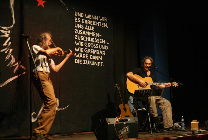 """""""Nürnberg singt Rot"""" - Jam-Session (Foto: Werner Sarbok, UZ)"""